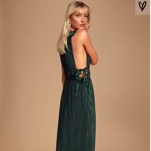 """Lulus """"My Forever Love Forest"""" pleated maxi dress"""